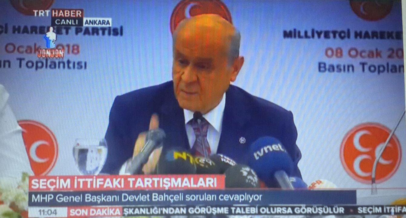"""Bahçeli, """"MHP Cumhurbaşkanlığı adayı göstermeyecektir"""""""