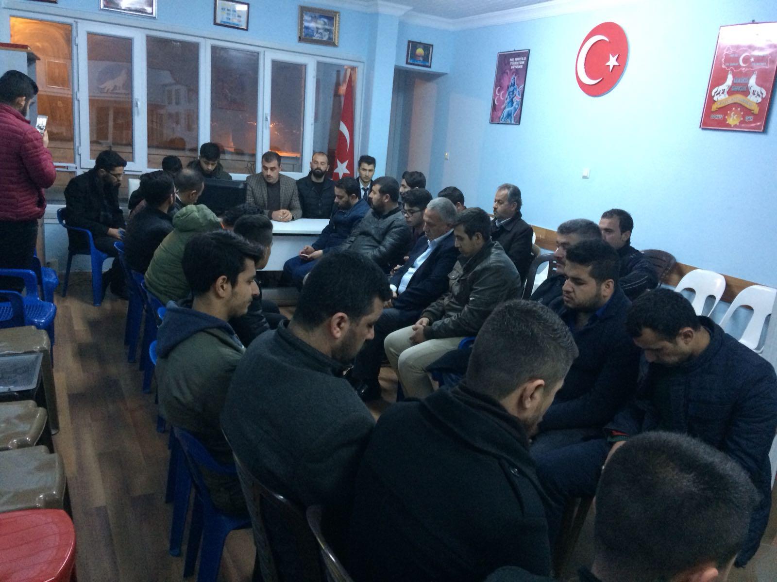 Kilis Ülkü Ocakları Afrin'de ki Kahramanlar için dua etti