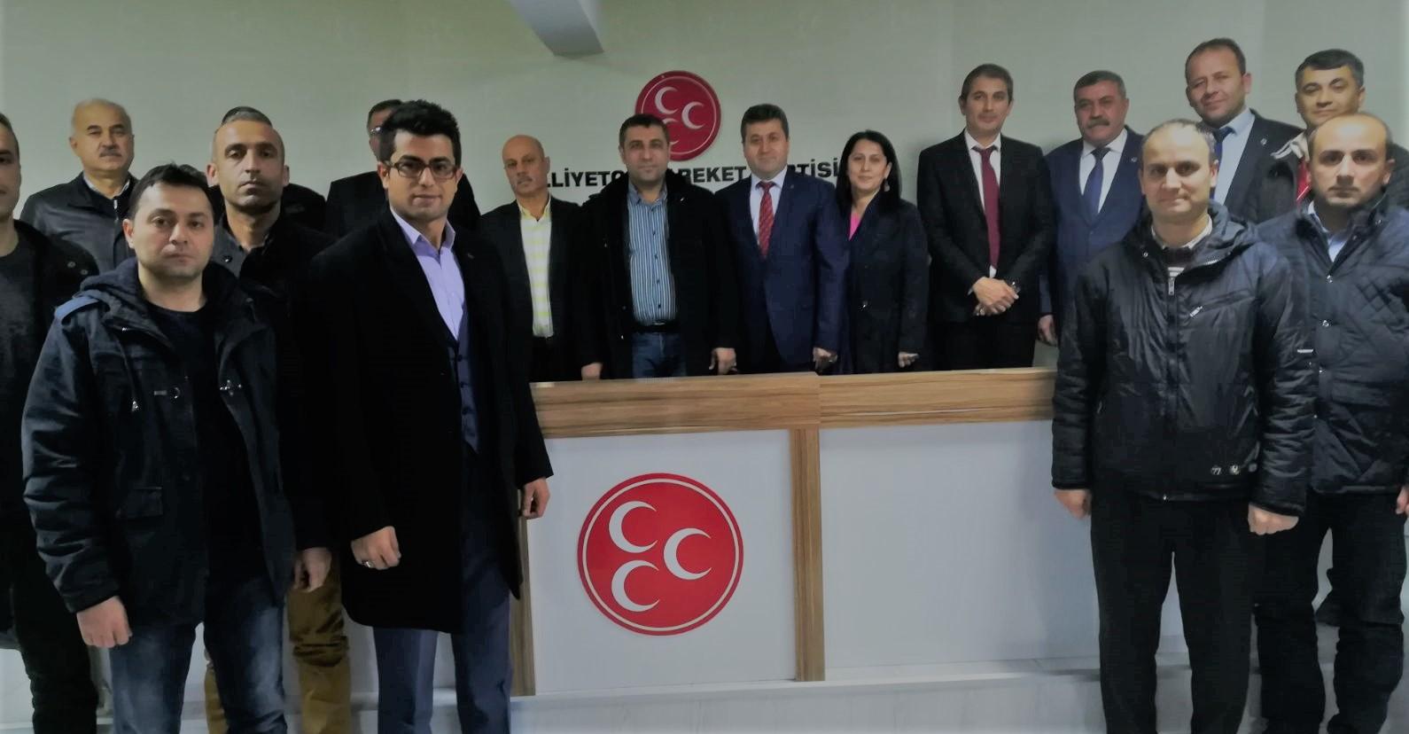Taşeron işçiler MHP'li Taşdoğan'ı ziyaret etti