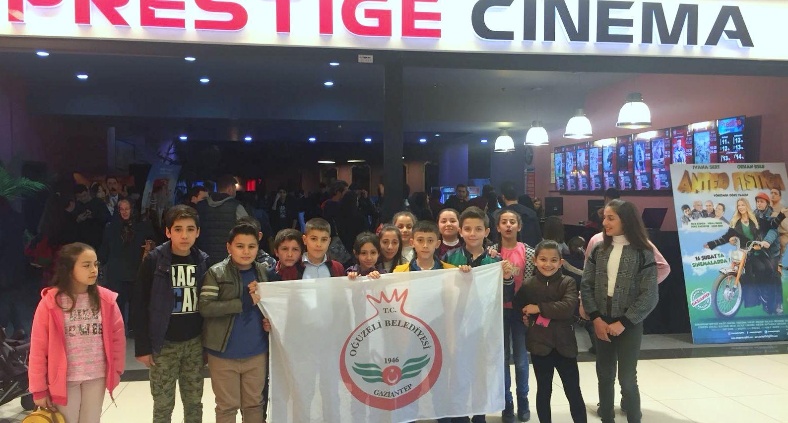 Oğuzelili öğrencilerin sinema sevinci