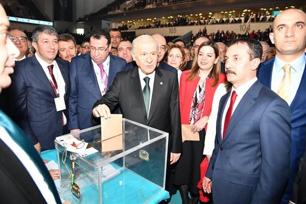 Devlet Bahçeli MHP Genel Başkanlığına yeniden seçildi