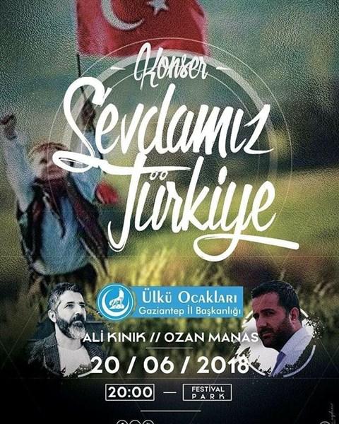 """Ülkücüler """"SEVDAMIZ TÜRKİYE"""" konserinde buluşacak"""