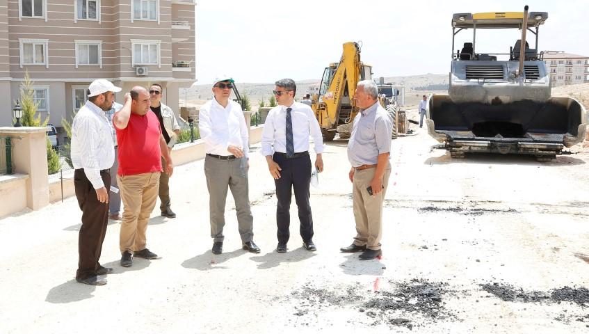 Gaziler mahallesi'nde açılan yollar asfaltlandı