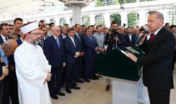 Cumhurbaşkanı Erdoğan, Prof. Dr. Fuat Sezgin'in cenaze töreninde konuştu