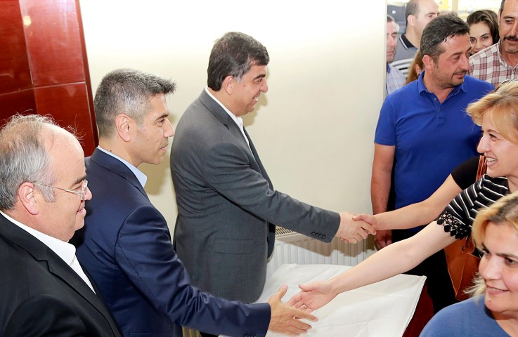 Başkan Fadıloğlu, personeliyle bayramlaştı