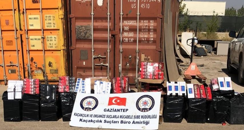 19 Bin 70 paket gümrük kaçağı sigara yakalandı