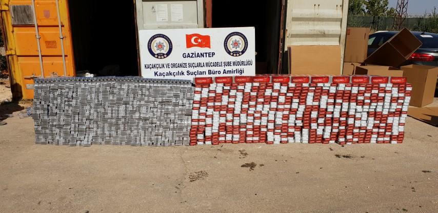 32 Bin 700 Paket gümrük kaçağı sigara ele geçirildi
