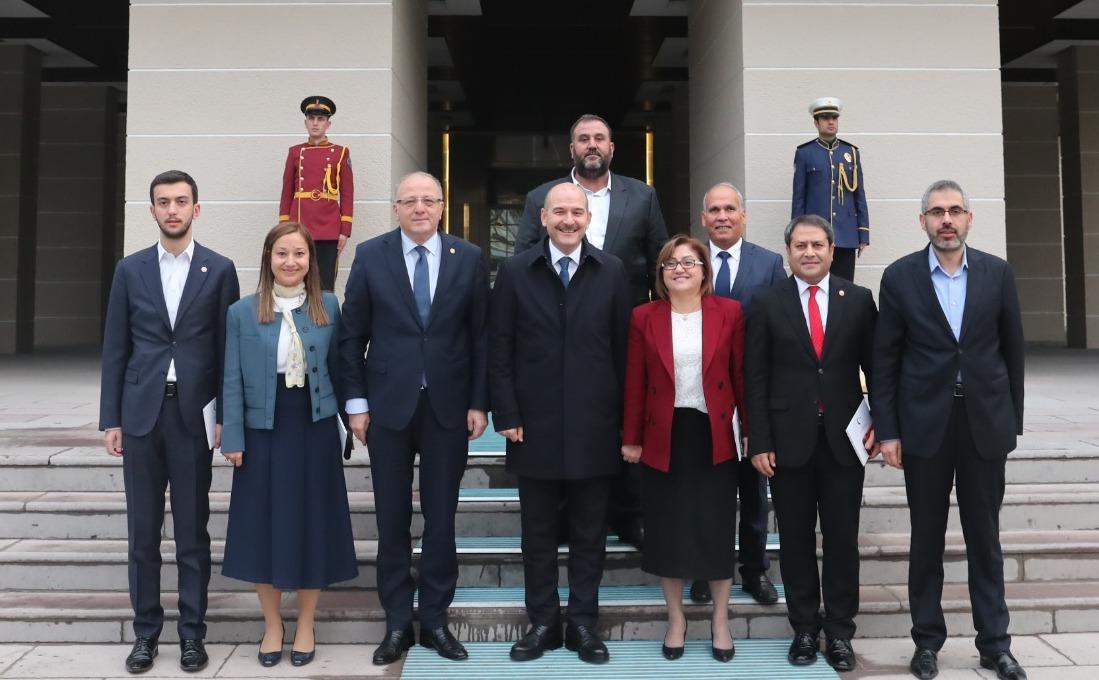 Gaziantep Heyeti İçişleri Bakanı Soylu'yu ziyaret etti