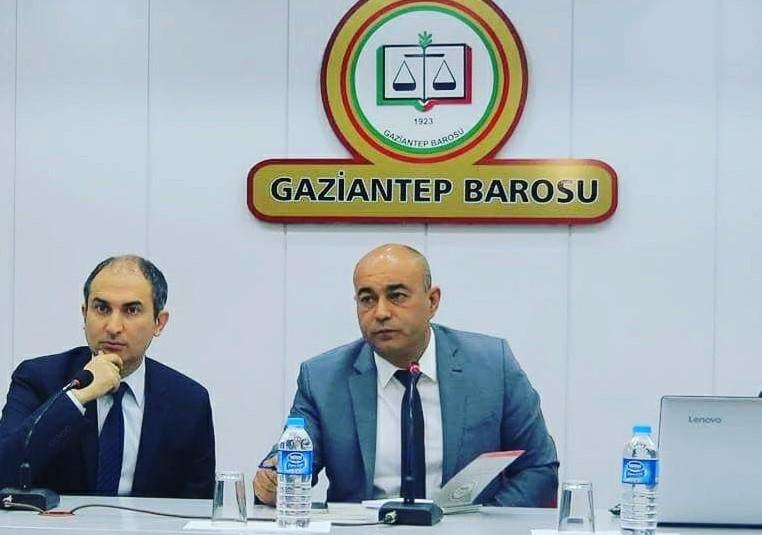 Bektaş Şarklı yeniden Gaziantep Barosu başkanı seçildi