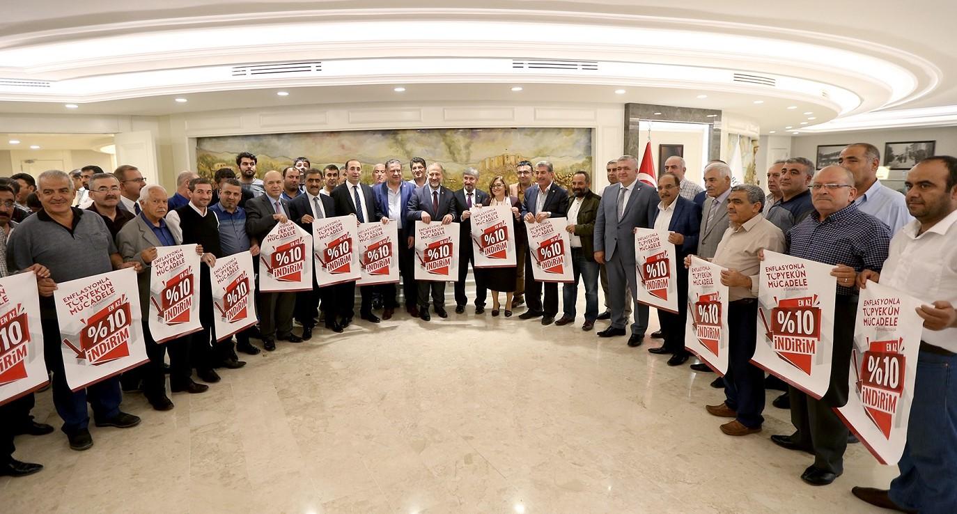 Enflasyonla topyekün mücadele kampanyasında Gaziantep öncü oldu