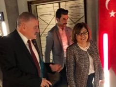 MHP'li Sermet Atay, Fatma Şahin'i makamında ziyaret etti