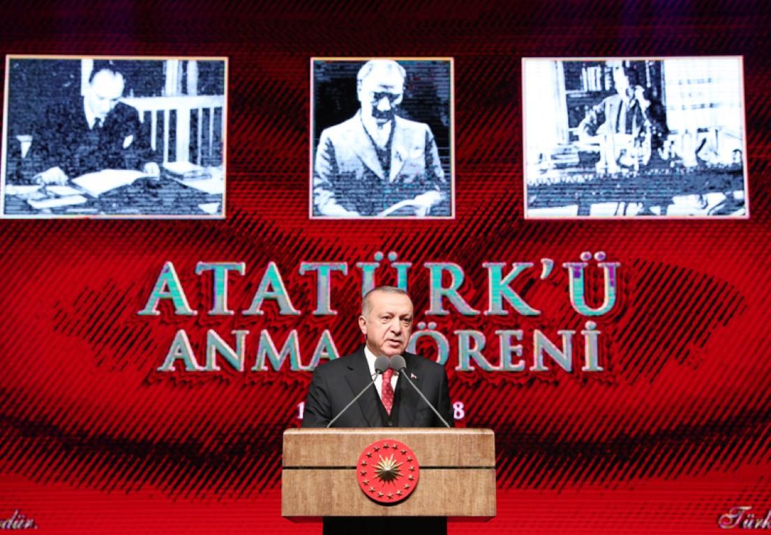 Cumhurbaşkanı Erdoğan,Atatürk'ün ebediyete intikalinin 80. yıl dönümünde konuştu