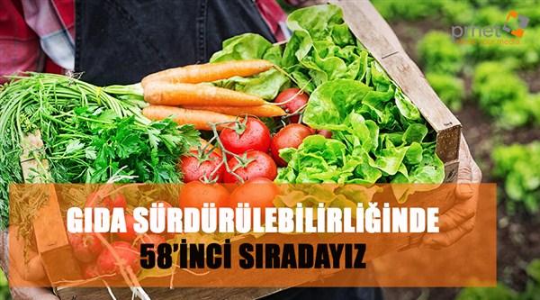 Gıda sürdürülebilirliğinde 58'inci sıradayı