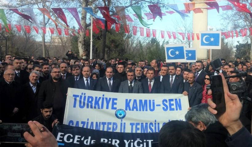 Türkiye KAMU- SEN  Çin zulmünü protesto etti