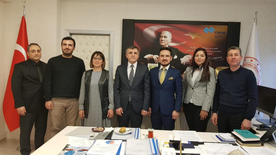 EMO Gaziantep Şubesi, İSGGM Genel Müdürü Yenidünya'yı makamında ziyaret etti