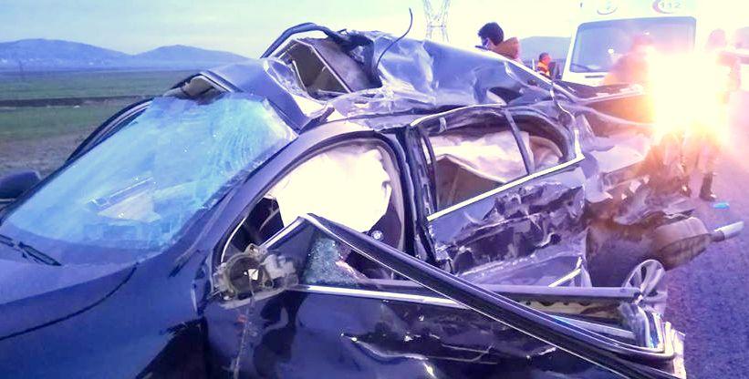 Nurdağı ilçesinde feci kaza