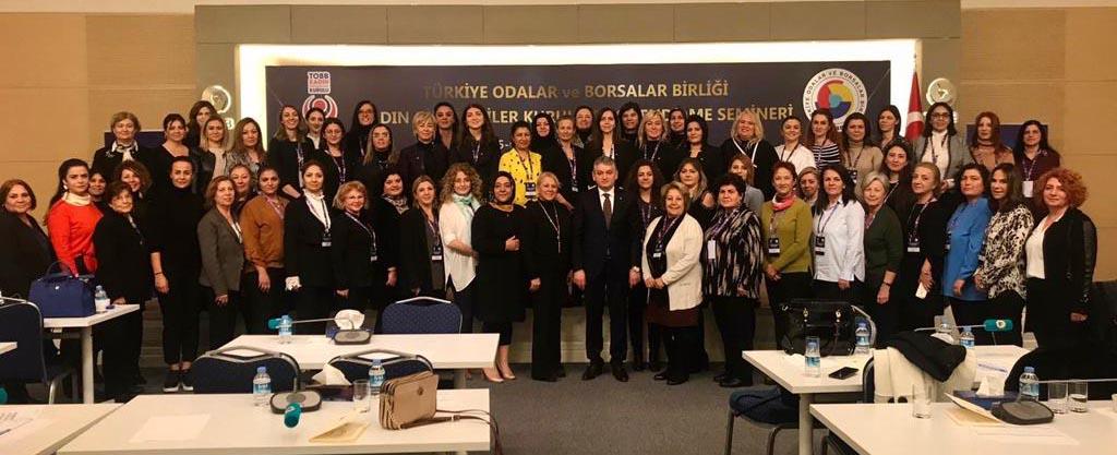 TOBB Gaziantep Kadın Girişimciler Kurulu bilgilendirme seminerine katıldı