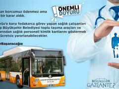 Büyükşehir'den sağlık personellerine ücretsiz otopark ve toplu ulaşım hizmeti!