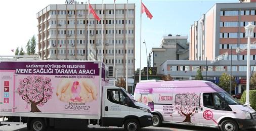 Büyükşehir'den mobil kanser tarama aracıyla çevre illerde örnek hizmet