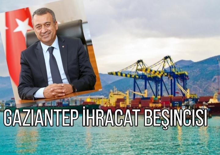 Gaziantep İhracatta Türkiye beşincisi oldu
