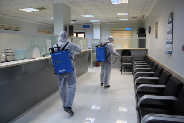 Gaziantep Ticaret Borsası dezenfekte edildi