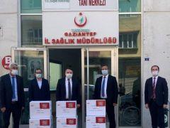 GAZDAŞ'tan Gaziantep'teki Hastanelere Tıbbi Malzeme ve Cihaz Desteği