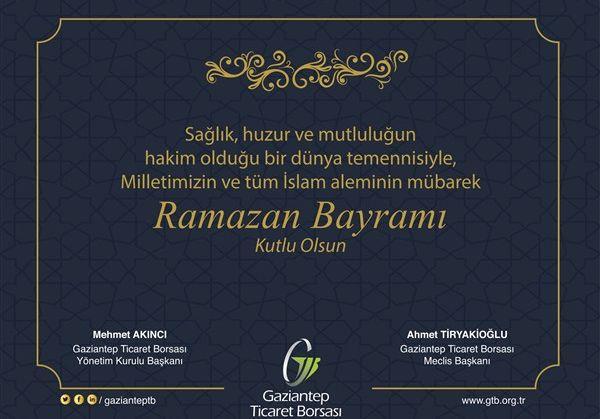 GTB Başkanları Ramazan Bayramını Kutladı