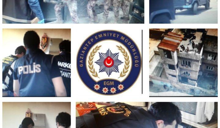 Gaziantep Emniyet Müdürlüğü'nden Uyuşturucu Tacirlerine Dev Operasyon