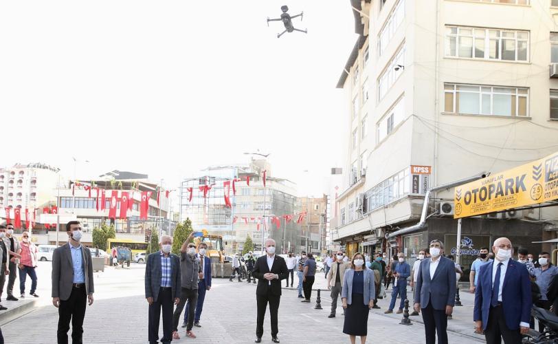 Dronelarla Pandemi için inovatif uyarı