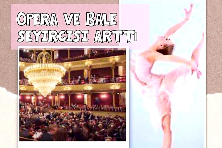 Opera ve bale seyirci sayısı geçen sezona göre arttı