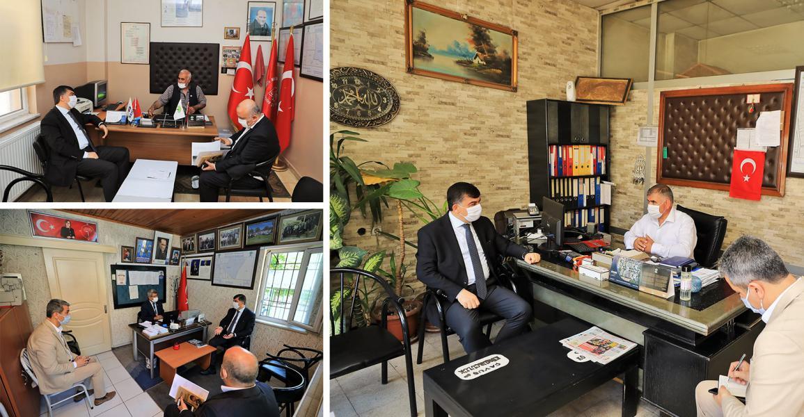 Başkan Fadıloğlu, Muhtarları ziyaret etti