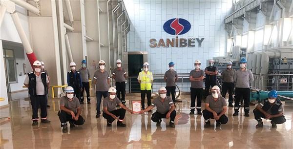 SANKO Enerji Sanibey Barajı ve HES'e TSE COVID-19 Güvenli Üretim Belgesi