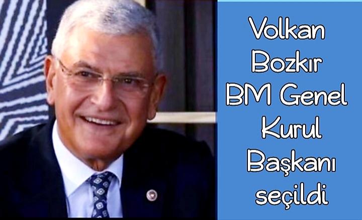 Volkan Bozkır, Birleşmiş Milletler 75. Genel Kurul Başkanı seçildi.
