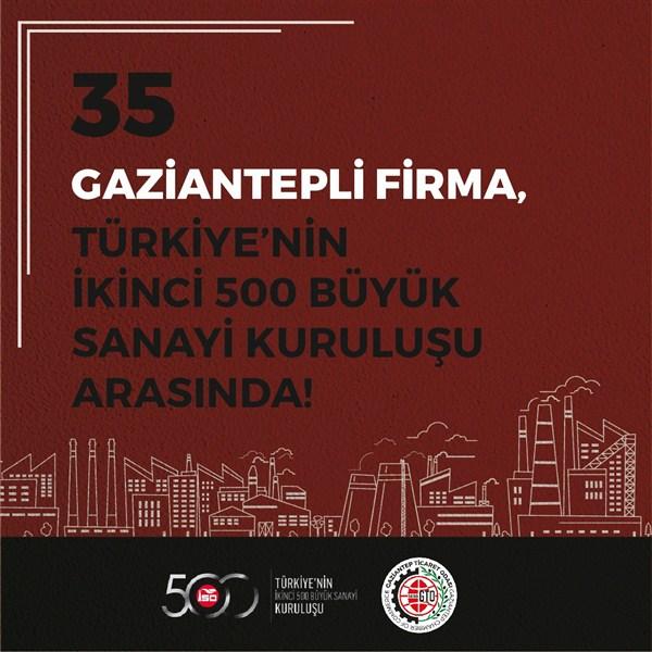 En Büyükler Arasında Gaziantep'ten 61 Firma