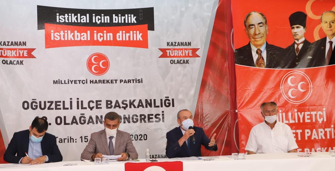 MHP Oğuzeli İlçe Başkanı Muharrem Özsert Güven Tazeledi