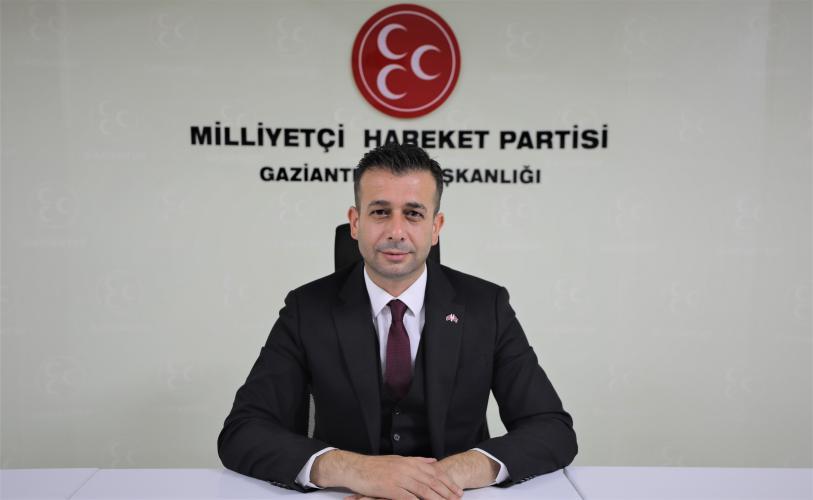 MHP Gaziantep İl Başkanı Çıkmaz'dan 29 Ekim Cumhuriyet Bayramı Kutlama Mesajı