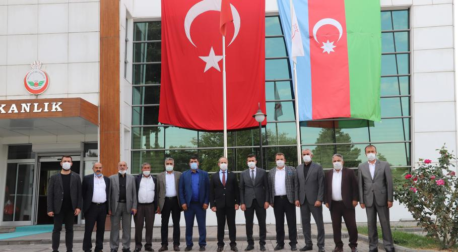 Başkan Çıkmaz'dan, Oğuzeli Belediye Başkanı Kılıç'a  ziyaret