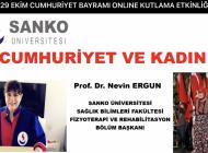 """SANKO Üniversitesi'nde Online """"Cumhuriyet ve Kadın"""" Konulu Sunum"""