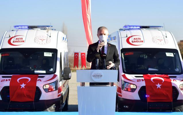 Sağlık Bakanlığınca GAZİANTEP'e Gönderilen 38 Ambulans Törenle Hizmete Alındı