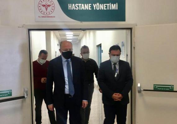 Milletvekili Koçer, Abdülkadir Yüksel Devlet Hastanesini Ziyaret Etti