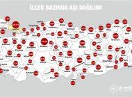 Bakan Koca, Türkiye'deki Covid-19 aşılama haritasını paylaştı