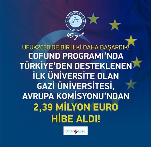 Avrupa Komisyonu'ndan Gazi Üniversitesi'ne 2,39 Milyon Avro Hibe