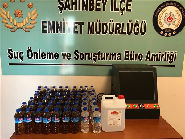 Gaziantep'te 31 Litre Kaçak Alkol Ele Geçirildi