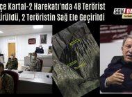 Pençe Kartal-2 Harekatı'nda 48 Terörist Öldürüldü, 2 Teröristin Sağ Ele Geçirildi