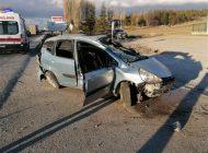Aracıyla Takla Atan Sürücü Hayatını Kaybetti