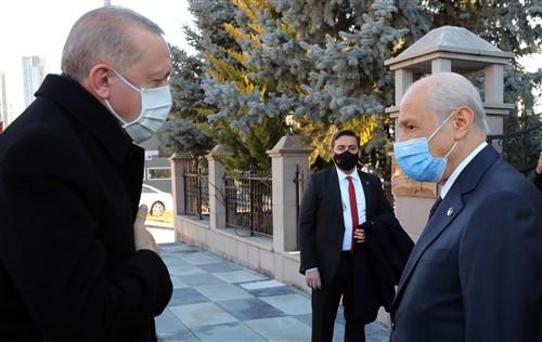 Cumhurbaşkanı Erdoğan MHP Lideri Bahçeli'yi Ziyaret etti