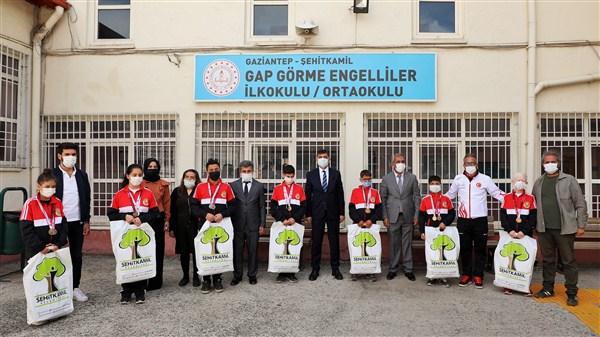 GAP Görme Engelliler Okulu 22 Madalya Topladı