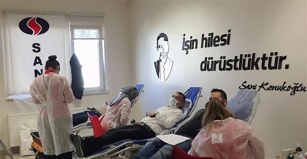 Sanko Tekstil Adıyaman İşletme Çalışanları Kan Bağışı Yaptı