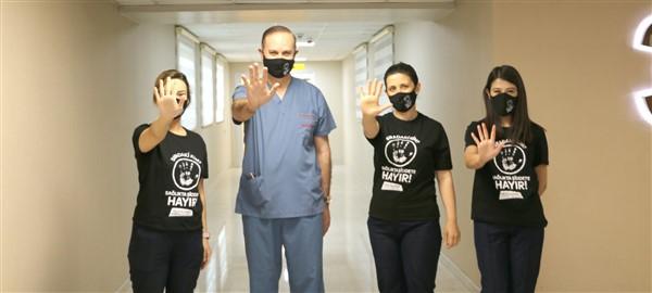 """Gaziantep'te """"Sağlıkçıya Şiddete Hayır"""" Günü etkinliği"""