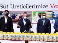 """Gaziantep'te """"Süt Üreticilerine Vefa"""" Projesi Hayata Geçirildi"""